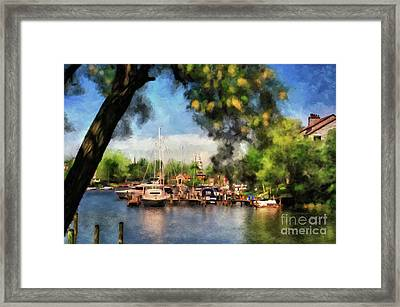 Spa Creek Framed Print by Lois Bryan