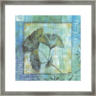 Spa Gingko Postcard 1 Framed Print