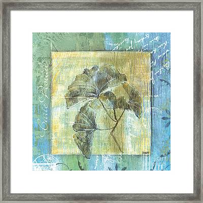 Spa Gingko Postcard  2 Framed Print