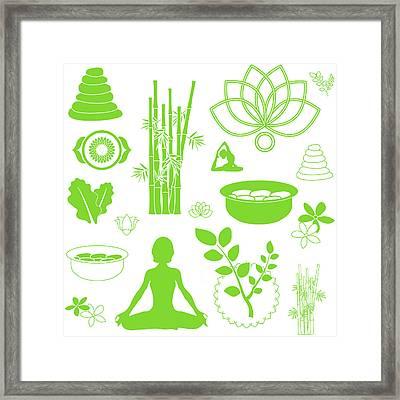 Spa Meditation Background Framed Print by Serena King