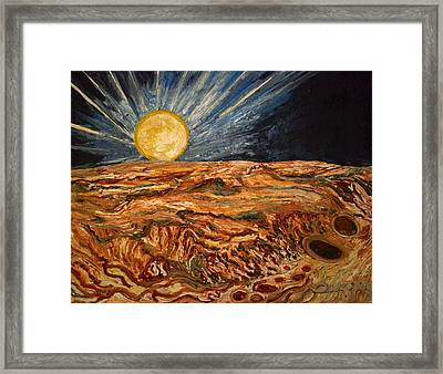 Space Absraction-9 Framed Print by Anand Swaroop Manchiraju