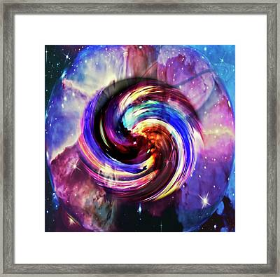 Space And Time Framed Print by Susan Leggett
