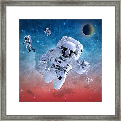 Space Astronaut Framed Print