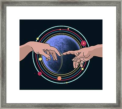 Space Blue  Framed Print by Mark Ashkenazi