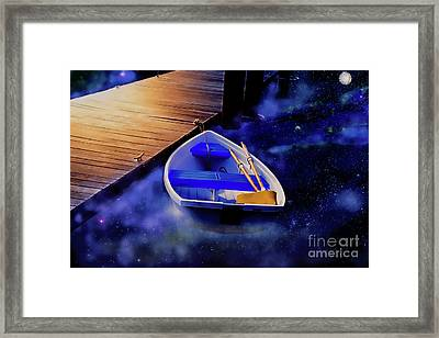 Space Boat Framed Print