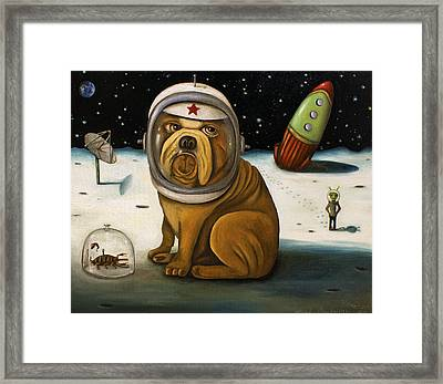 Space Crash Framed Print by Leah Saulnier The Painting Maniac