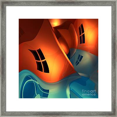 Space Curvature Framed Print