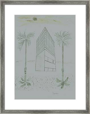 Space Framed Print by D