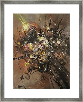 Space Debris Framed Print