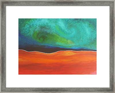 Space Dream Framed Print by Casey Hasan