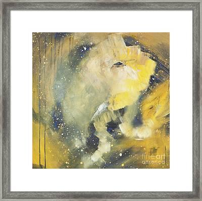 Space Elephant Framed Print by Kate Maconachie