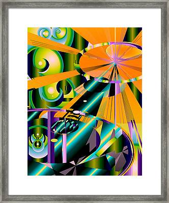Space Framed Print by Elsbeth Lane