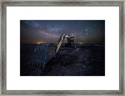 Framed Print featuring the photograph Space Excavator  by Aaron J Groen