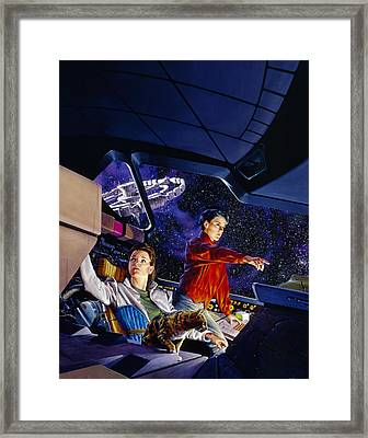 Space Explorers Framed Print