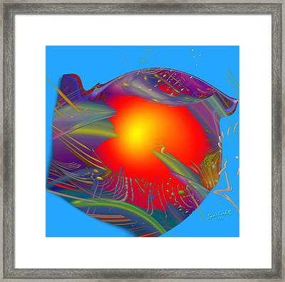 Space Fabric Framed Print