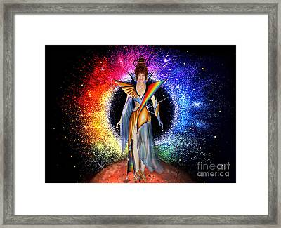 Space Fashion By Sofia Metal Queen Framed Print by Sofia Metal Queen