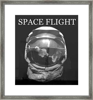 Framed Print featuring the photograph Space Flight by David Lee Thompson