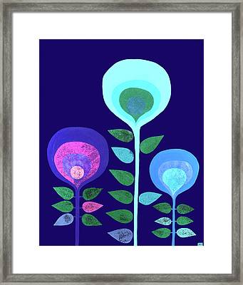 Space Flowers Framed Print