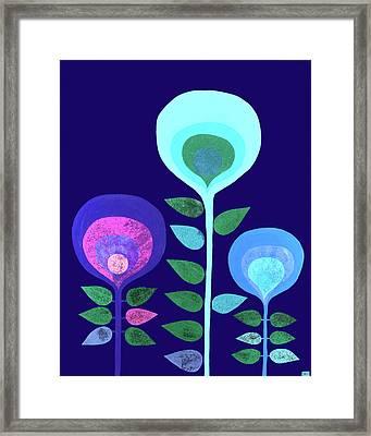 Space Flowers Framed Print