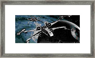 Space Framed Print by George Pedro