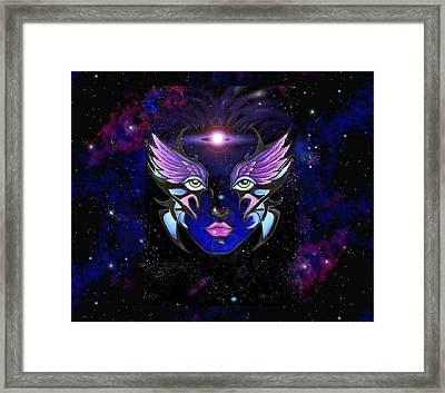 Space Goddess  Framed Print by Carmen Daspit