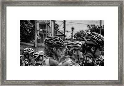 Space Helmets  Framed Print by Steven Digman