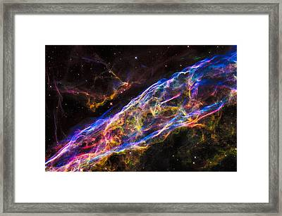 Space Image Colorful Veil Nebula Framed Print by Matthias Hauser