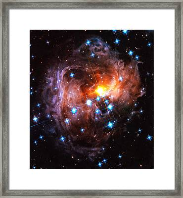 Space Image Light Echo Star V838 Monocerotis Framed Print by Matthias Hauser