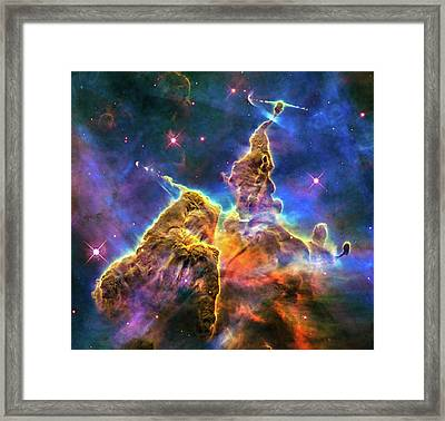Space Image Mystic Mountain Carina Nebula Framed Print by Matthias Hauser