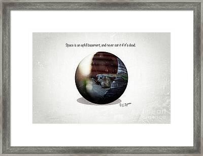 Space Is An Uphill Basement  Framed Print by Steven Digman