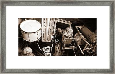 Space Junk Framed Print by Ed Smith