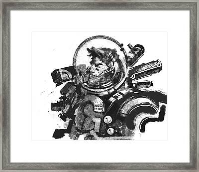 Space Man Framed Print