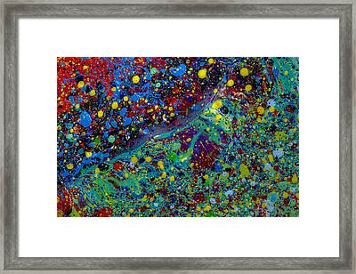 Space Marble Framed Print by Sean Corcoran