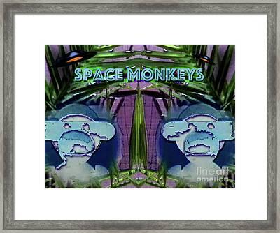 Space Monkeys 2017 Framed Print by Alan M Thwaites