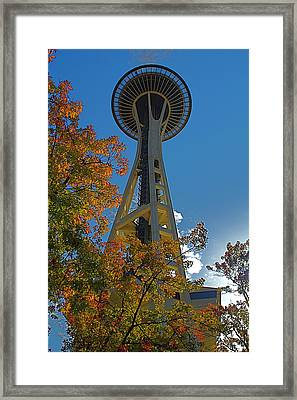 Space Needle Autumn Framed Print