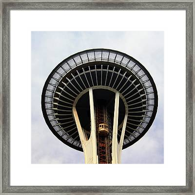 Space Needle- By Linda Woods Framed Print by Linda Woods