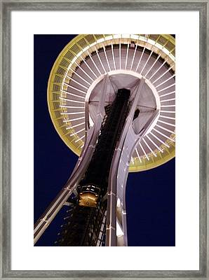 Space Needle Close-up Framed Print by Sonja Anderson