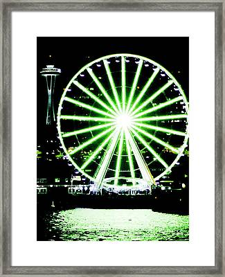 Space Needle Ferris Wheel Framed Print