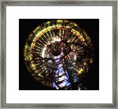 Space Needle Night Framed Print