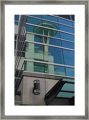 Space Needle Reflection Framed Print