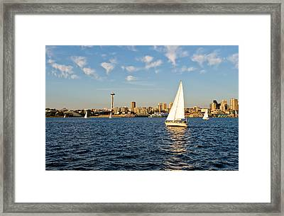 Space Needle Tack Framed Print by Tom Dowd