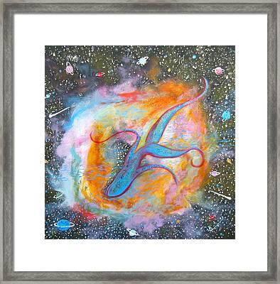 Space Ocean Framed Print by V Boge