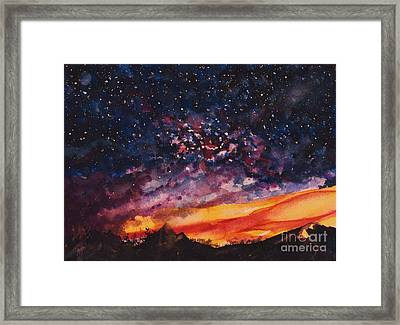 Space Oddity  Framed Print