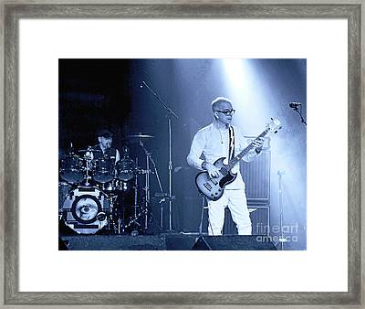 Space Oddity. Tony Visconti And Woody Woodmansey Paying Tribute To David Bowie Framed Print by Tanya Filichkin