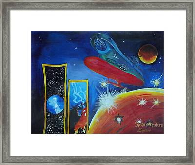 Space Of The Future Framed Print by Betty Chin