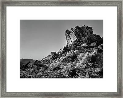 Space Rock Framed Print