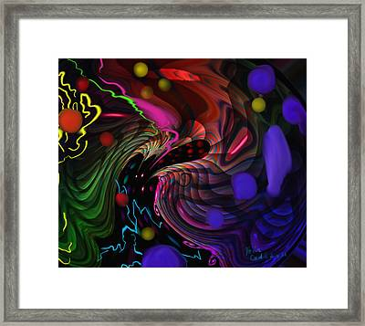 Space Rocks Framed Print