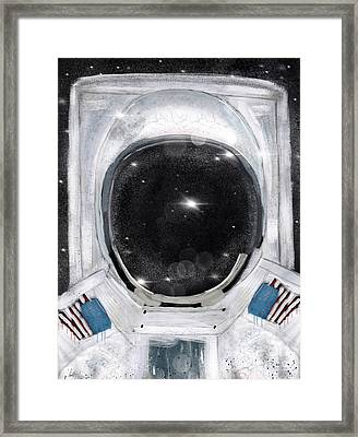 Framed Print featuring the painting Space Selfie by Bri B