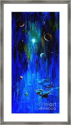 Space Shark Framed Print