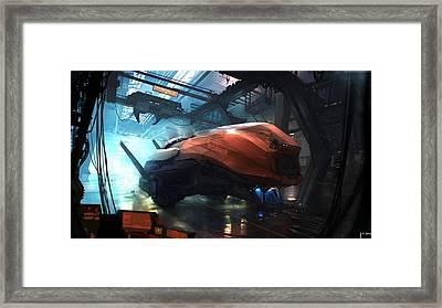 Space Ship Framed Print